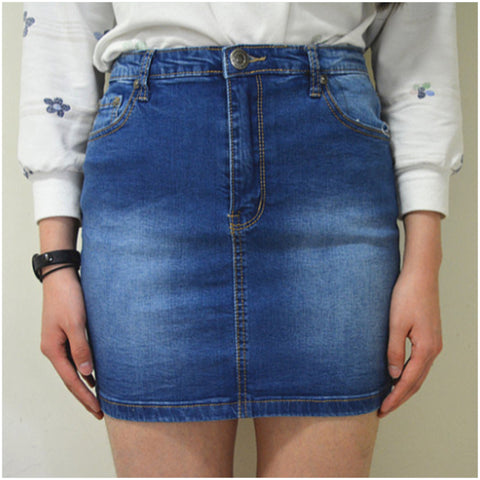 Laguna Beach Denim Skirt Mid Blue