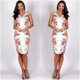 Teaberry Floral Butterfly Print Dress