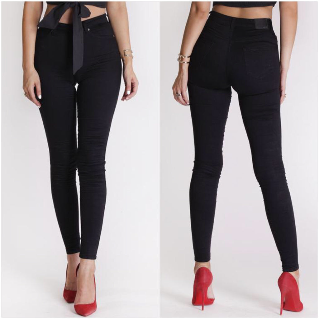 Refuge High Waisted Gelato Legs Jeans Black