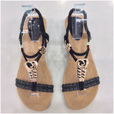 Joanna Heart Detail Small Wedge Sandals Black
