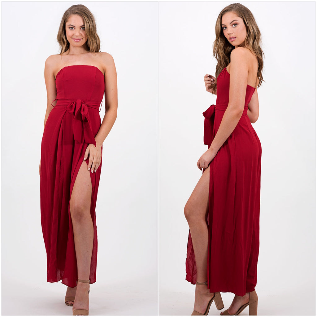 Majestic Jumpsuit Red