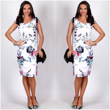 Teaberry Abstract Floral Print Dress