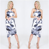 Third Love Floral Illusion Peplum Dress