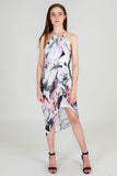 Third Love Leaf Print Cut Out Dress