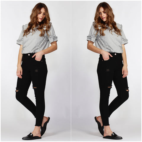 Sass Angus Ripped Jeans Black Wash