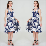 Third Love Bold Floral Print V Neck Dress