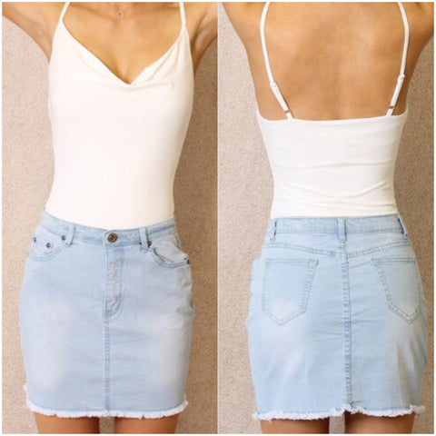 Cali Denim Skirt Light