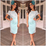 Mei Mei Lace Panel Dress Mint