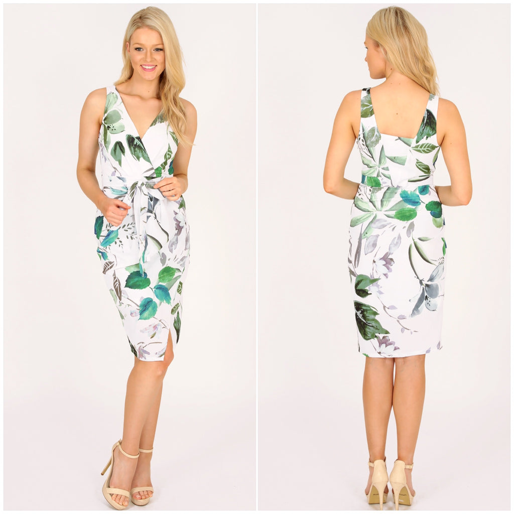 Third Love Summer Breeze Print Crossover Front Dress