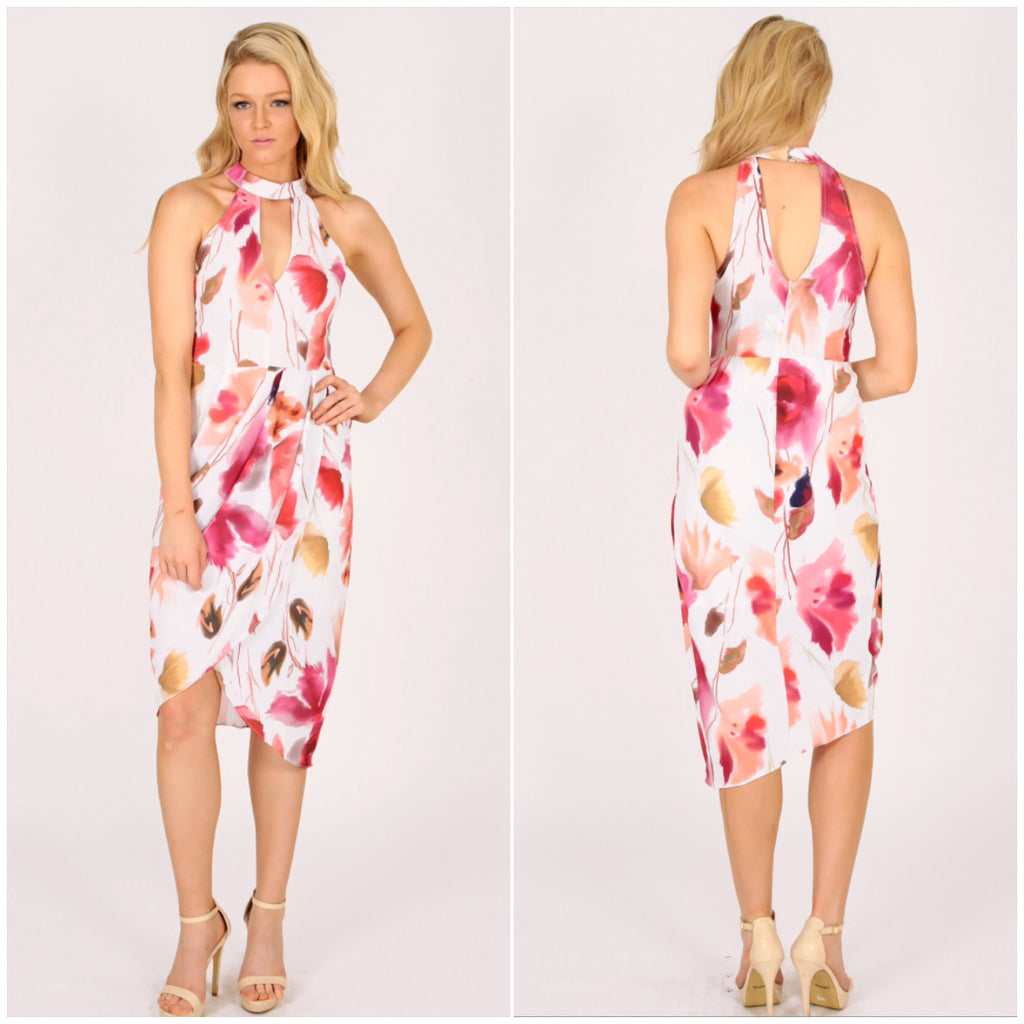 Third Love Symphony Of Petals Halter Dress