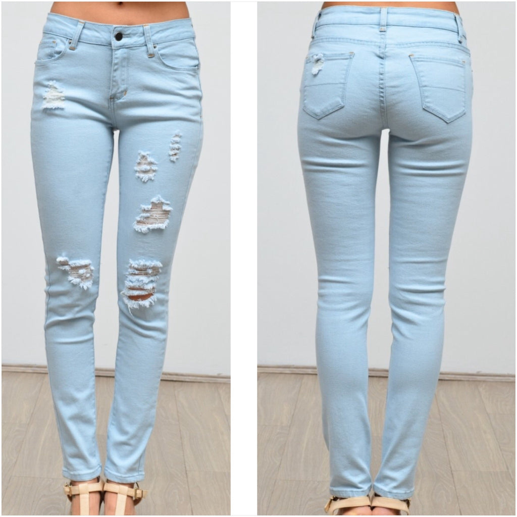 Silver Wishes Light Wash Ripped Jeans