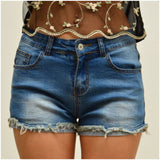 Silver Wishes Frayed Denim Shorts