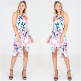 Third Love Lily Floral Print Cut Out Dress