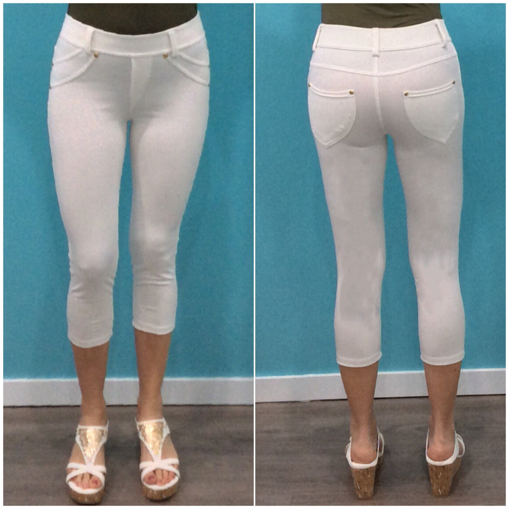 Quelque Three Quarter Jeggings White