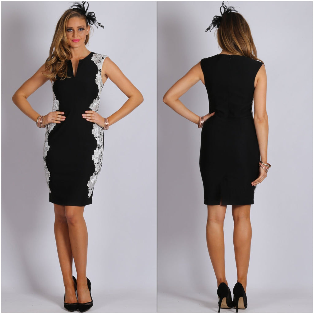Teaberry Lace Side Bodycon Dress