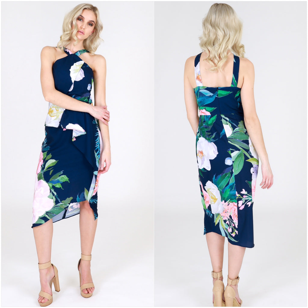 Third Love A Floral Crush Peplum Dress
