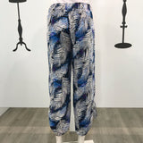 Quelque Button Detail Abstract Leaf Print Harlem Pants