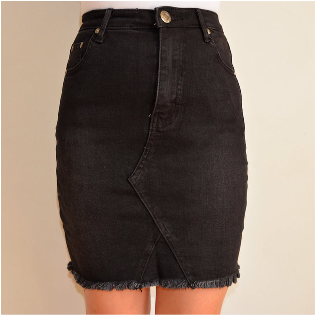 Ventura Denim Skirt Black