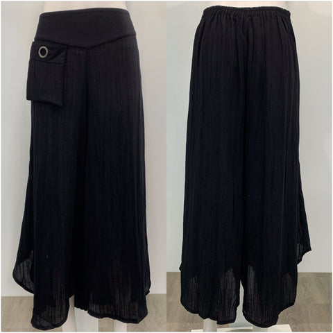 Willow Tree Pocket detail Pants Black