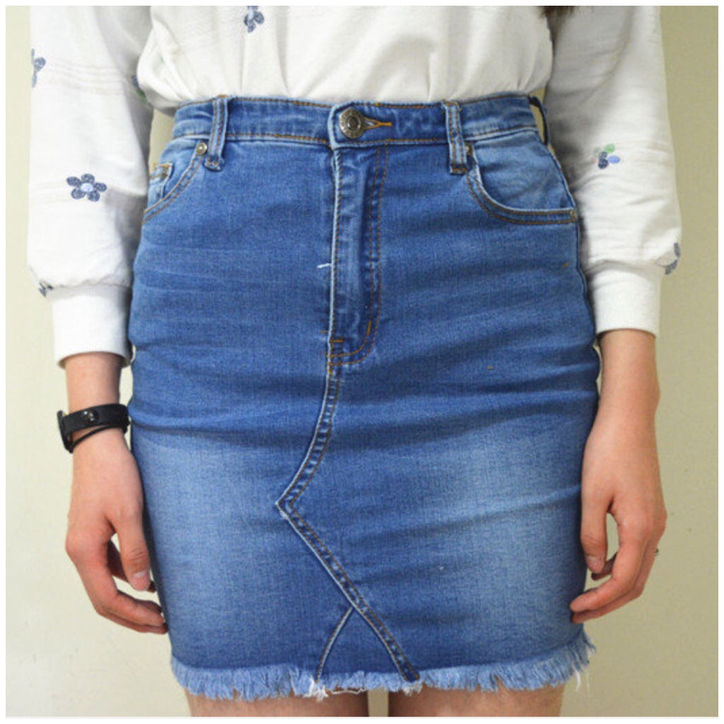 Ventura Denim Skirt Blue