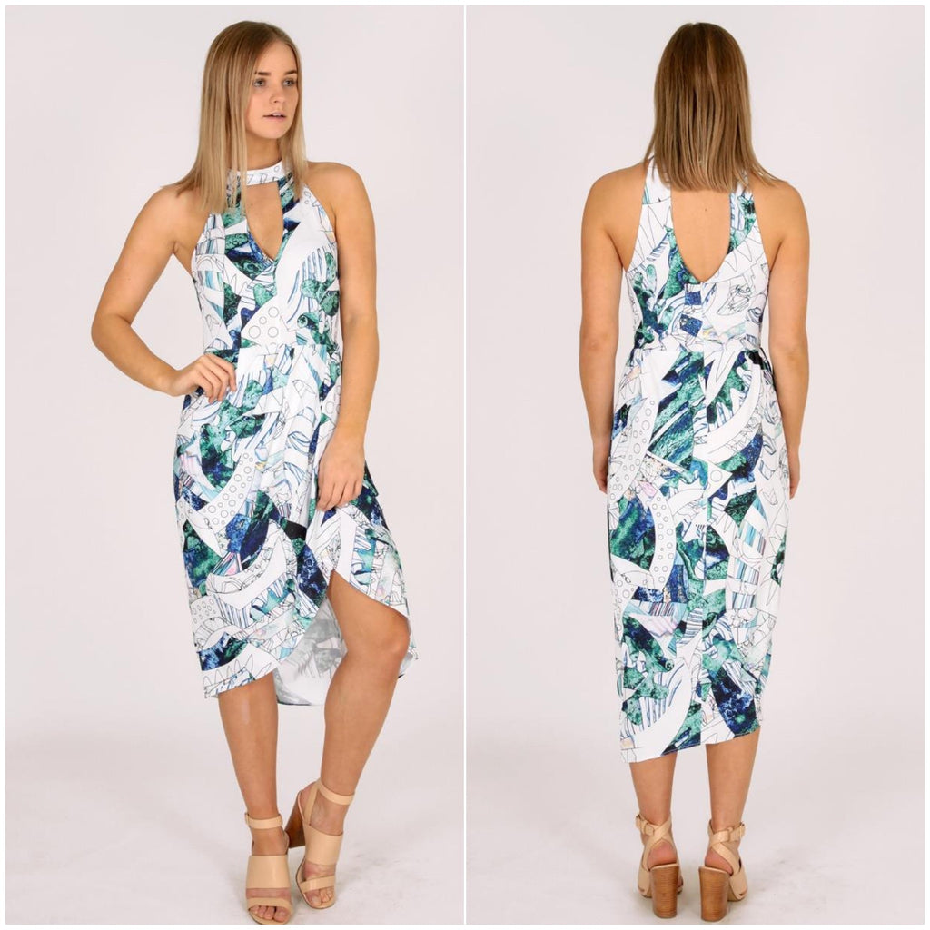 Third Love High Neck Geometric Print Dress