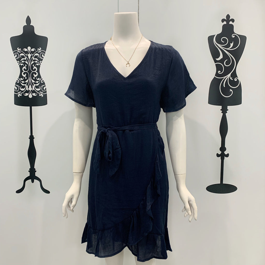 Mila Frill Bottom Dress Navy