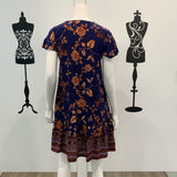 Scarlett Button Through Floral Dress Navy