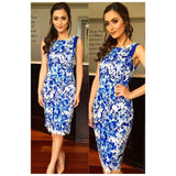 Mei Mei Royal Blue Floral Lace Dress