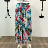 Missy Q Tropical Leaf Print Maxi Skirt