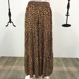 Abby Cheetah Print Tiered Maxi Skirt