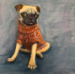 WHimsy Fit Pug on Sports Bra