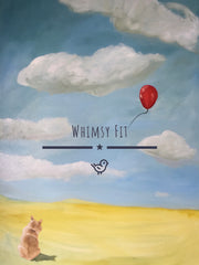 Whimsy Fit Red Balloon yoga Leggings