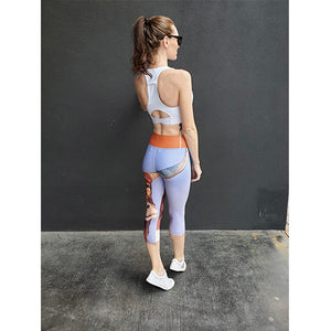 """Horns"" Yoga Capri Leggings - Whimsy Fit Workout Wear"