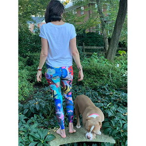 """Breeze"" Abstract Print Yoga Leggings - Whimsy Fit Workout Wear"