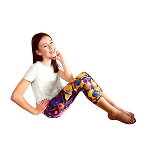 """Breeze Bright"" Yoga Capri Leggings - Whimsy Fit Workout Wear"
