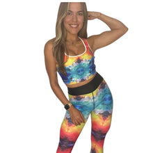 "Load image into Gallery viewer, ""Chi  Chi"" Padded Sports Bra - Whimsy Fit Workout Wear"