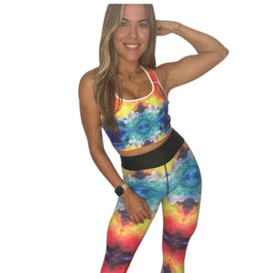 """Chi  Chi"" Padded Sports Bra - Whimsy Fit Workout Wear"