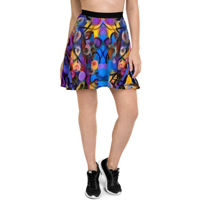 "Whimsy Fit ""Breeze Bright"" Skater Skirt - Whimsy Fit Workout Wear"