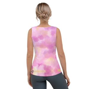 "Whimsy Fit ""Cotton Candy - Party Dog"" Tank Top - Whimsy Fit Workout Wear"