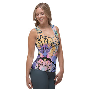 "Squire Girl ""Dessert First"" Tank Top - Whimsy Fit Workout Wear"