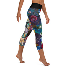 "Load image into Gallery viewer, ""Breeze"" Abstract Print Yoga Capri Leggings - Whimsy Fit Workout Wear"