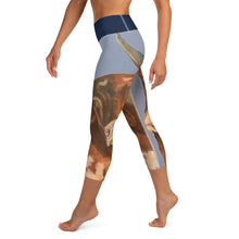 "Load image into Gallery viewer, ""Horns 2"" Yoga Capri Leggings - Whimsy Fit Workout Wear"