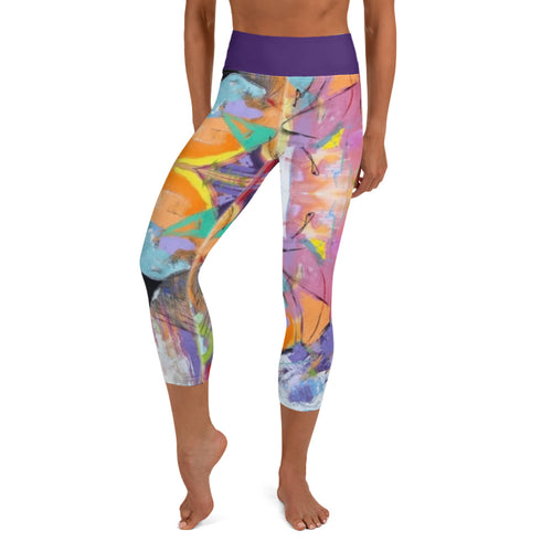 "Squire Girl ""Love Shack"" Yoga Capri Leggings - Whimsy Fit Workout Wear"