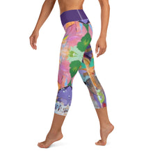"Load image into Gallery viewer, Squire Girl ""Love Shack""  Yoga Capri Leggings - Whimsy Fit Workout Wear"