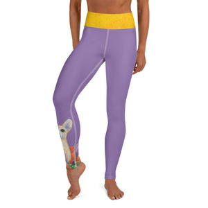"""Pumpkins"" Yoga Leggings with Chihuahua - Whimsy Fit Workout Wear"
