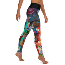 "Load image into Gallery viewer, ""Breeze"" Abstract Print Yoga Leggings - Whimsy Fit Workout Wear"