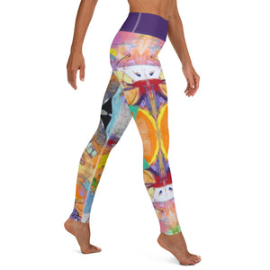 "Squire Girl ""Love Shack"" Yoga Leggings - Whimsy Fit Workout Wear"