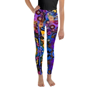 "Whimsy Fit ""Breeze Bright"" Girls  Leggings - Whimsy Fit Workout Wear"