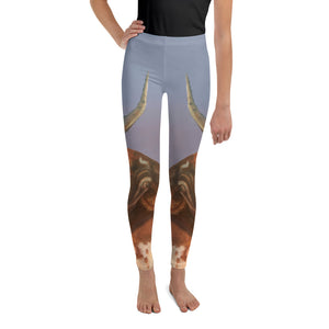 "Whimsy Fit ""Horns"" Girls Leggings - Whimsy Fit Workout Wear"