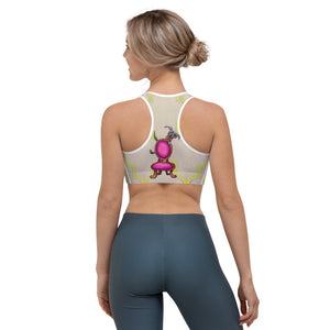 """Don't Tip"" Sports bra - Whimsy Fit Workout Wear"